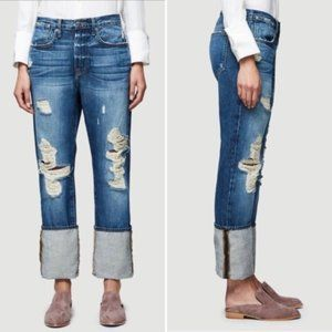 NWOT Frame Le Oversized Cuff Boyfriend Jeans